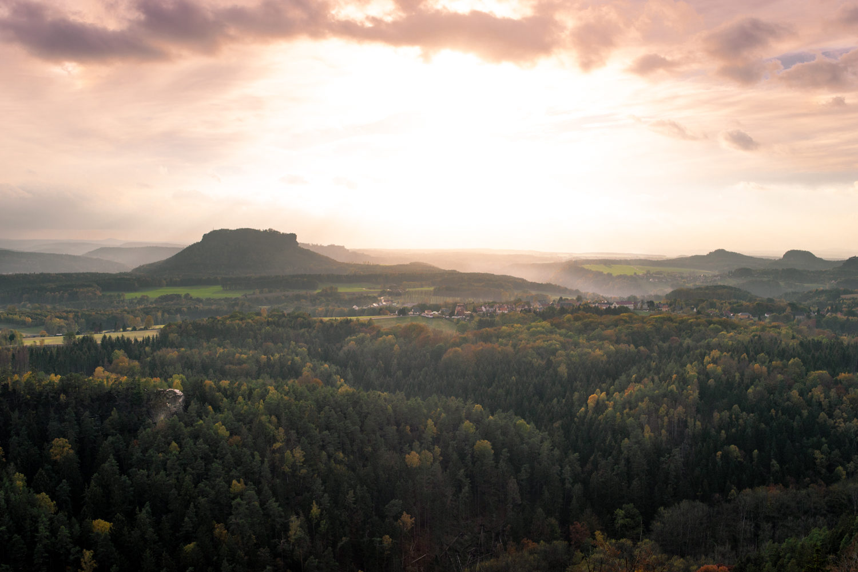 Sonnenuntergang, Lilienstein